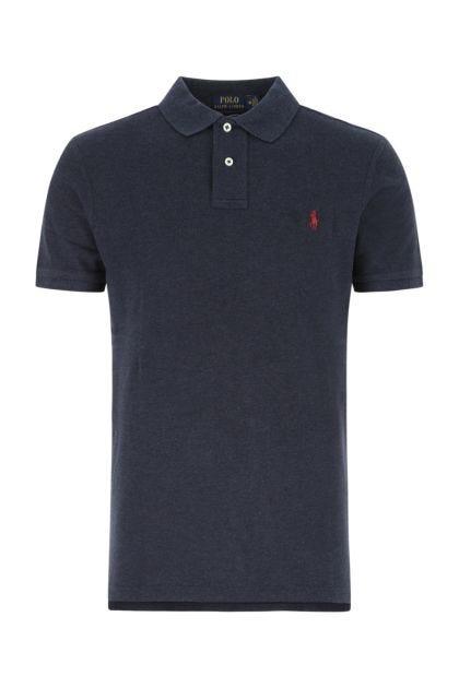 Navy blue piquet polo shirt