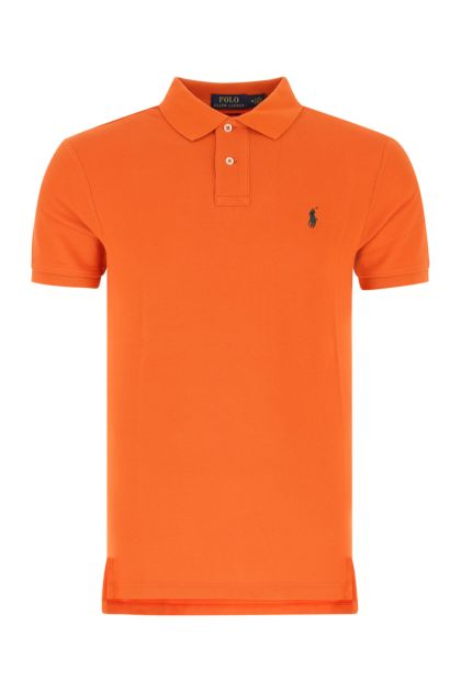 Orange piquet polo shirt