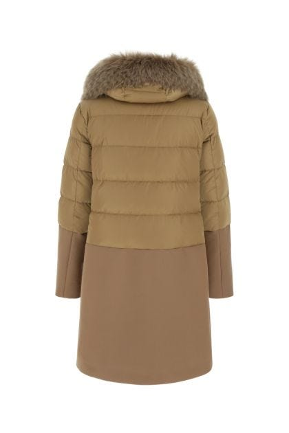 Biscuit polyester down jacket