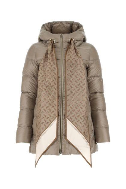 Dove grey nylon down jacket