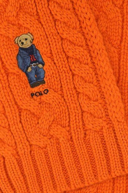 Orange polyester blend scarf