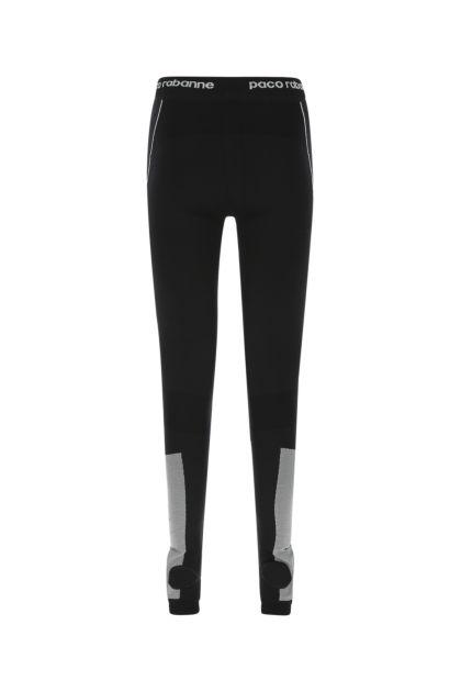 Black stretch nylon blend leggings
