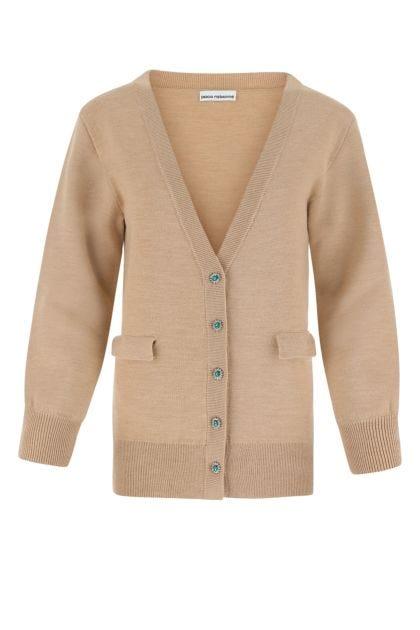 Biscuit stretch wool blend cardigan