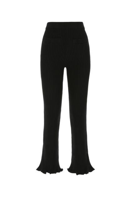 Black stretch cotton pant