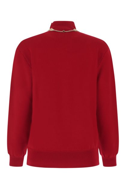 Tiziano red stretch wool blend sweater
