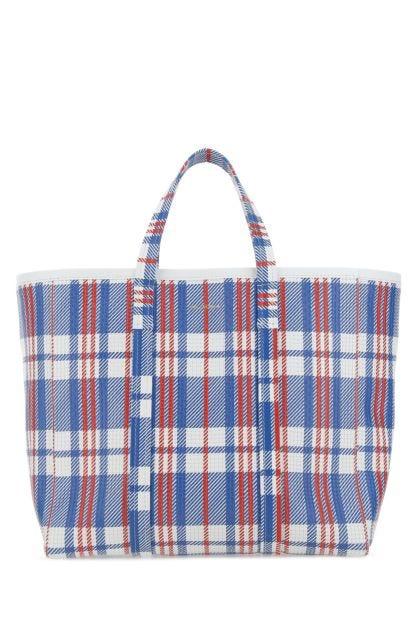 Printed leather medium Barbes shopping bag