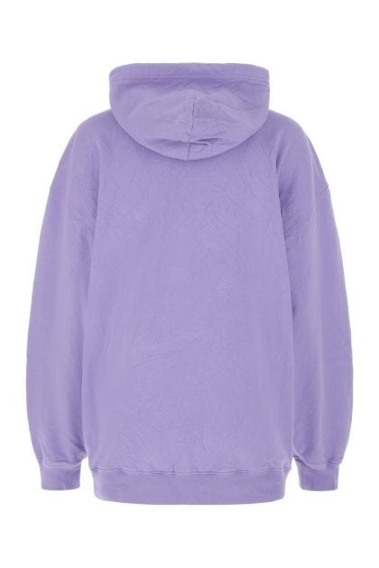 Lilac cotton oversize sweatshirt