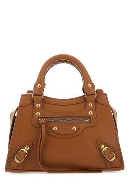 Biscuit leather mini Neo Classic handbag