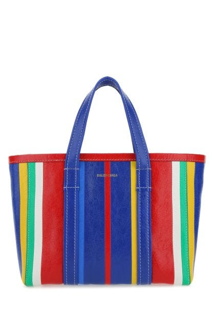 Multicolor leather small Barbes shopping bag