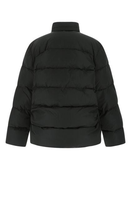 Black polyester blend padded jacket
