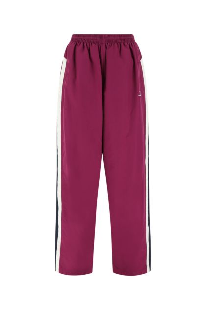 Tyrian red nylon joggers