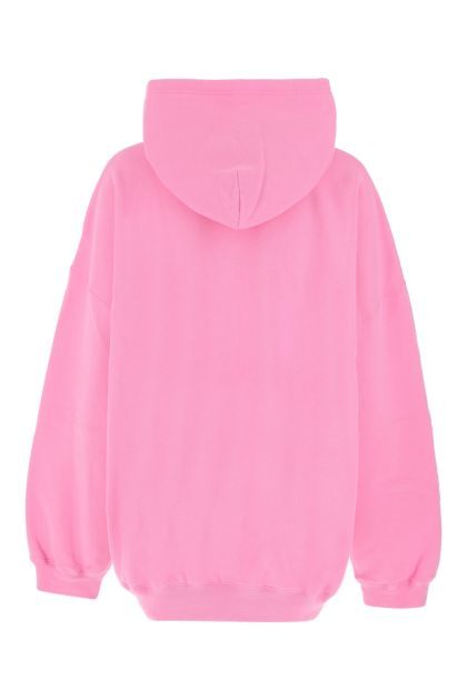 Pink cotton oversize sweatshirt