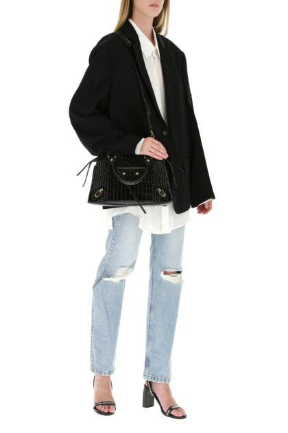 Black leather S Neo Classic handbag