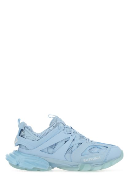 Light-blue mesh and fabric Track sneakers