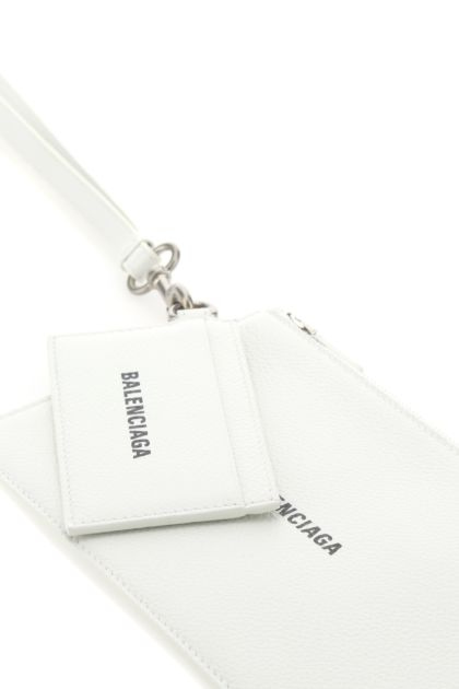 Ivory leather pouch