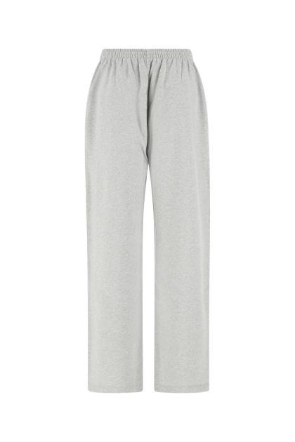 Melange grey cotton joggers