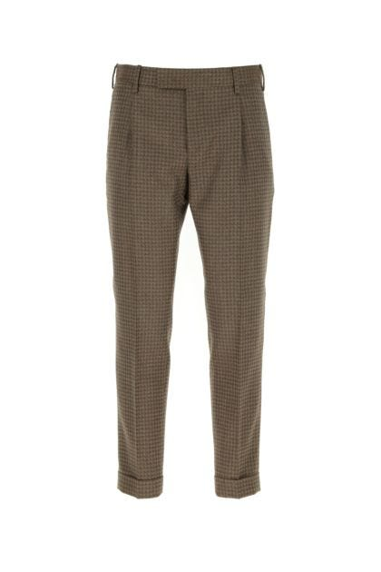 Embroidered wool The 100's pant