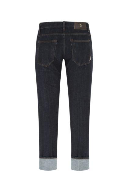Dark blue stretch denim jeans