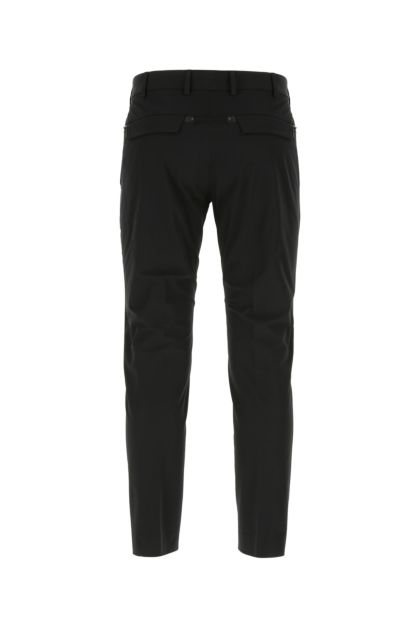Black stretch cotton blend chino pant