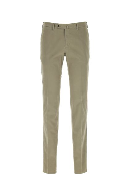 Dove grey stretch cotton cigarette pant