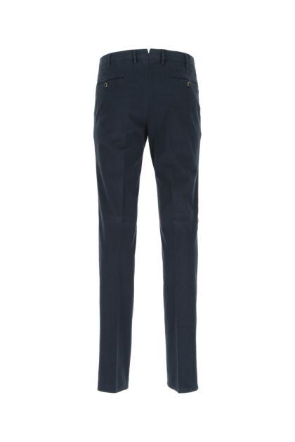 Blue stretch cotton cigarette pant