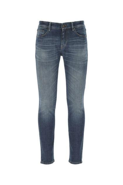 Blue stretch denim Rock jeans