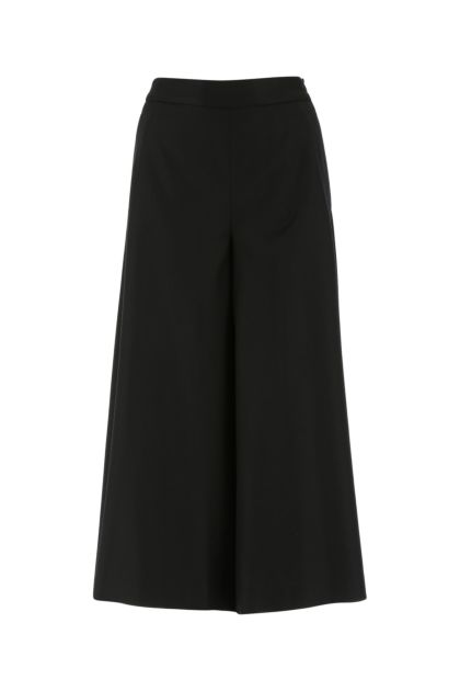 Black stretch wool blend pant