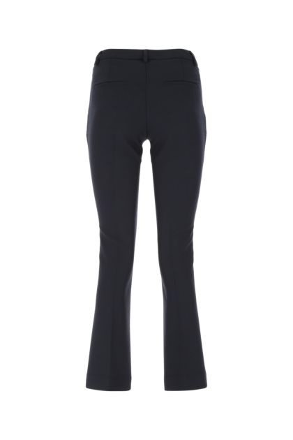 Midnight blue stretch polyester blend pant