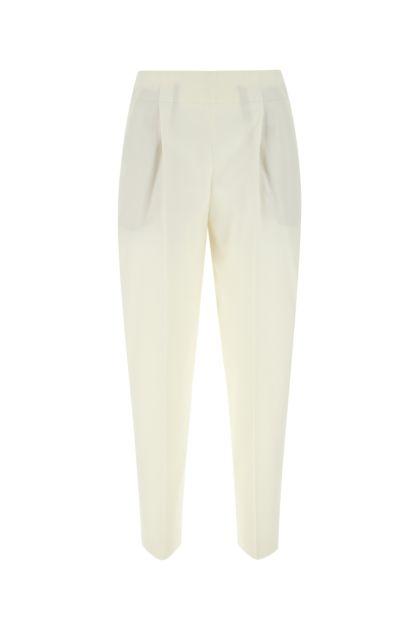 Ivory stretch wool blend Eloise pant