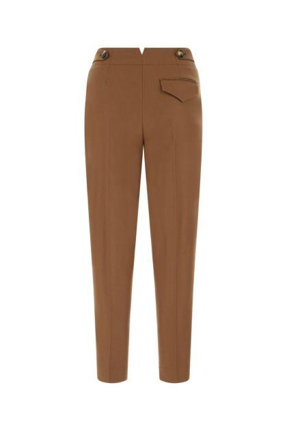 Brown stretch wool blend Eloise pant
