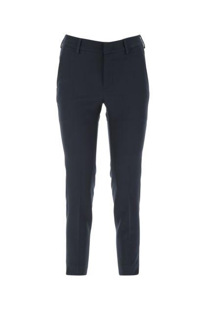 Dark blue stretch polyester pant