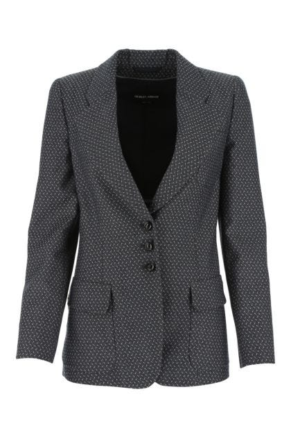 Embroidered wool blazer