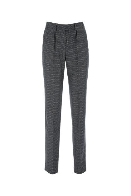 Embroidered wool pant