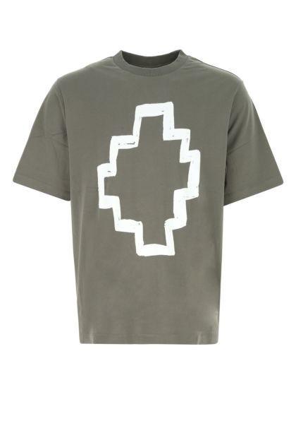 Khaki cotton t-shirt