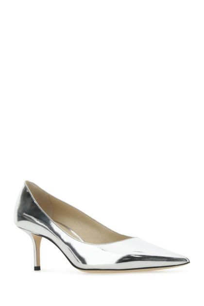 Silver leather Love 65 pumps