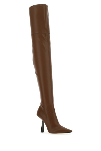 Brown synthetic leather Bryson 100 boots