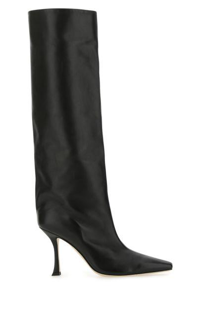 Black nappa leather Chad 90 boots