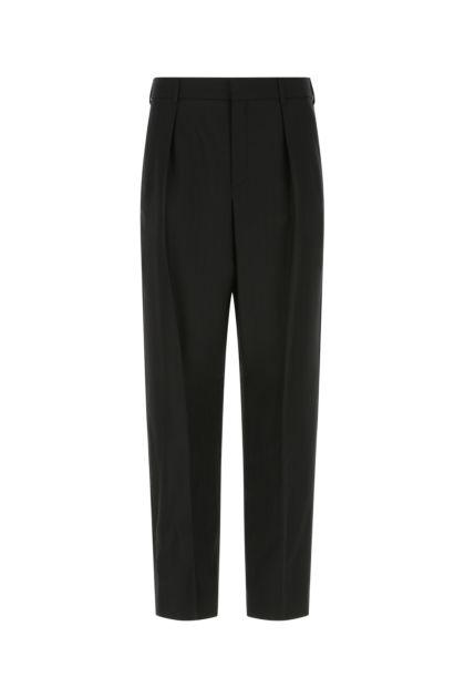 Black wool pant