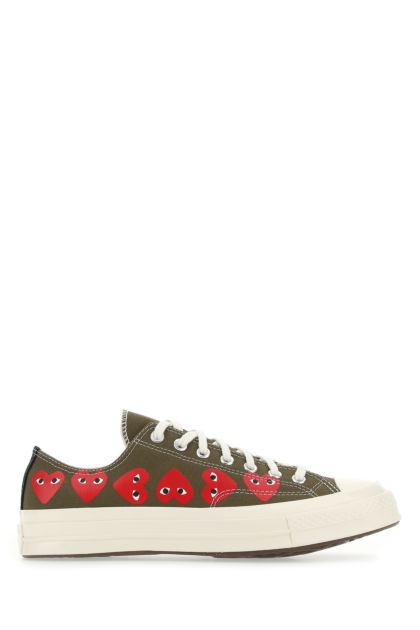 Army green canvas Chuck 70 sneakers