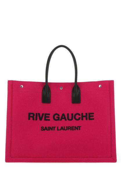 Fuchsia felt Noe shopping bag