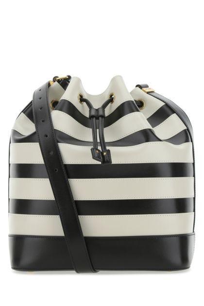 Two-tone leather Le Monogramme bucket bag