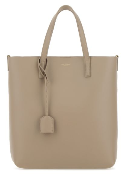 Cappuccino leather toy North/South shopping bag