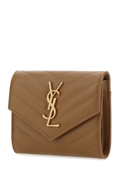 Biscuit leather wallet