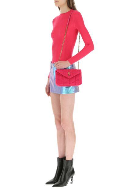 Fuchsia mini Puffer crossbody bag