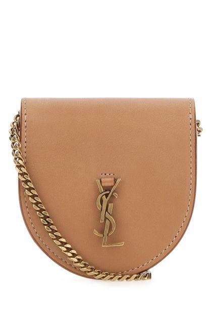 Beige leather Le K Baby crossbody bag
