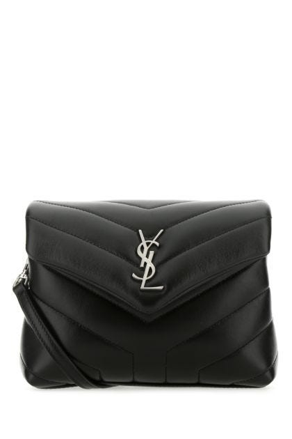 Black leather toy Loulou crossbody bag