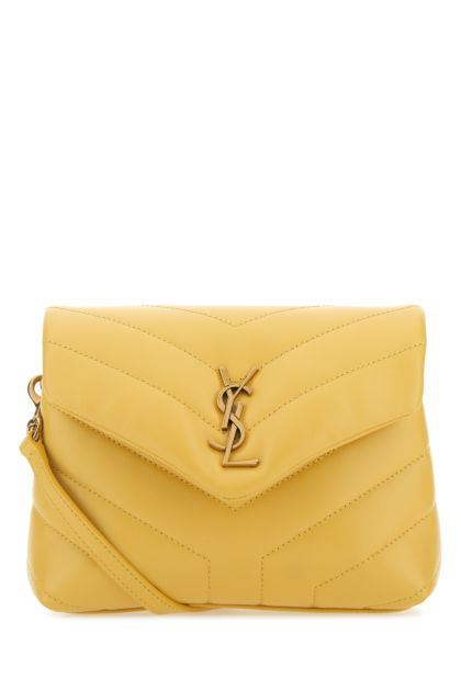 Yellow leather toy Loulou crossbody bag