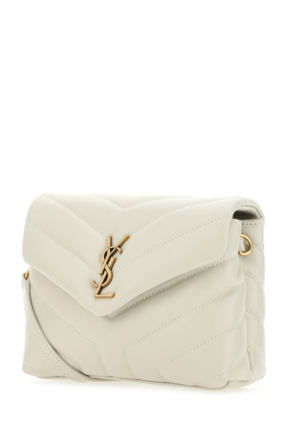Chalk leather Loulou toy crossbody bag