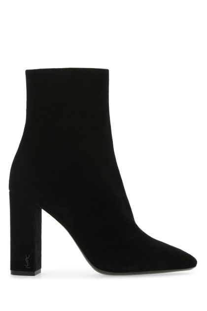 Black suede Lou boots