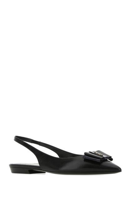 Black nappa leather Anais ballerinas